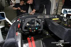 Le cockpit de l'Audi R8 d'Audi Sport Japan Team Goh