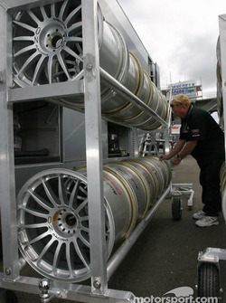 Les roues de l'Audi R8 du Champion Racing