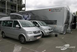 Le camion d'Audi Sport UK Team Veloqx