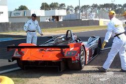 Problèmes pour la Dome Mugen n°9 du Kondo Racing (Hiroki Kato, Hayanari Shimoda)