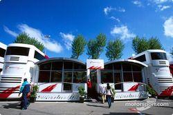Toyota Racing konuk alanı area