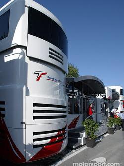 Toyota Racing hospitality area