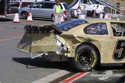 La voiture endommagée de Klaus Graf