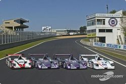 Les Audi R8 d'Audi Sport Japan Team Goh, Audi Sport UK Team Veloqx et Champion Racing