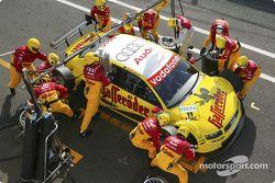 Boxenstopp-Training: Christian Abt, Team Abt Sportsline, Audi A4 DTM 2004
