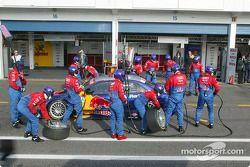 Boxenstopp-Training: Mattias Ekström, Team Abt Sportsline, Audi A4 DTM 2004