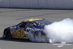 Burnout for race winner Greg Biffle