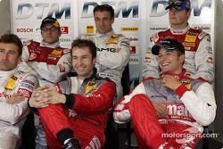 Bernd Schneider, Heinz-Harald Frentzen, Timo Scheider, Christian Abt, Jean Alesi und Martin Tomczyk