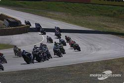 Le départ en Superbike