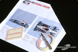 BAR Honda reveal the radical car which Anthony Davidson will drive in the Friday practice sessions for the Spanish GP