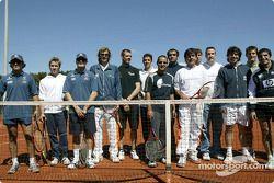 Tennis charity tournament, Open Sports Club Barcelona: Felipe Massa, Nick Heidfeld, Giancarlo Fisich