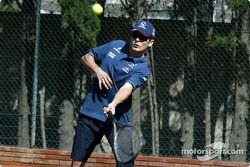Tennis charity tournament, Open Sports Club Barcelona: Giancarlo Fisichella