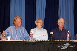 Dan Gurney, Phil Hill & Jim Hall à la conférence de presse