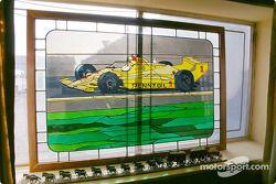 Un vitrail dans le bureau de Jim Hall