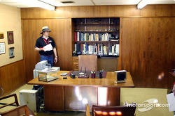 Chaparral Gallery's Scott Atkinson in Jim Hall's office
