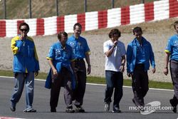 Track inspection for Fernando Alonso