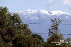 Mountains seen from Circuit de Catalunya