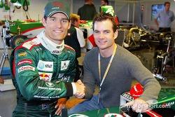Mark Webber ve NASCar superstar Jeff Gordon