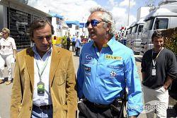 Flavio Briatore y Carlos Sainz