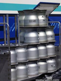 Sauber wheels ready to go