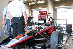 Robbie Pecorari dans sa Formule Ford Zetec