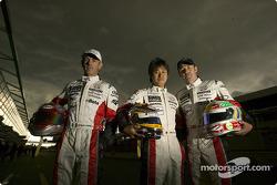 Rinaldo Capello, Seiji Ara et Tom Kristensen