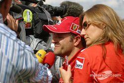 TV interviews for Rubens Barrichello