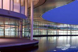 Evening view, McLaren Technology Centre