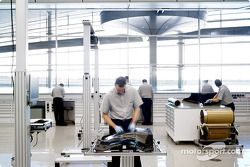 La zone des composites de McLaren Racing