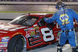 Dale Earnhardt Jr. comes into victory lane