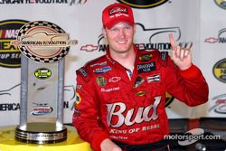 Dale Earnhardt Jr. with his trophy