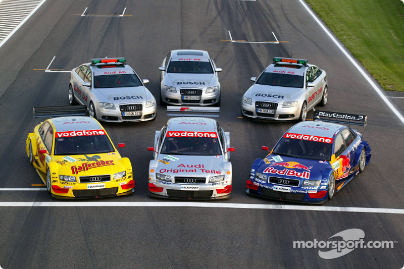 Los Audi A4 y Safety Cars del DTM