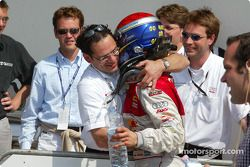 Hans-Jürgen Abt mit Mattias Ekström, Team Abt Sportsline, Audi A4 DTM 2004