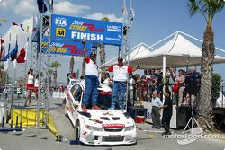 Prodromos Prodromou and Rockys on the podium