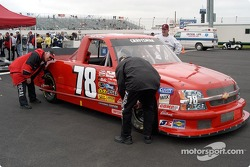 Charlie Bradberry's truck goes through technical inspection