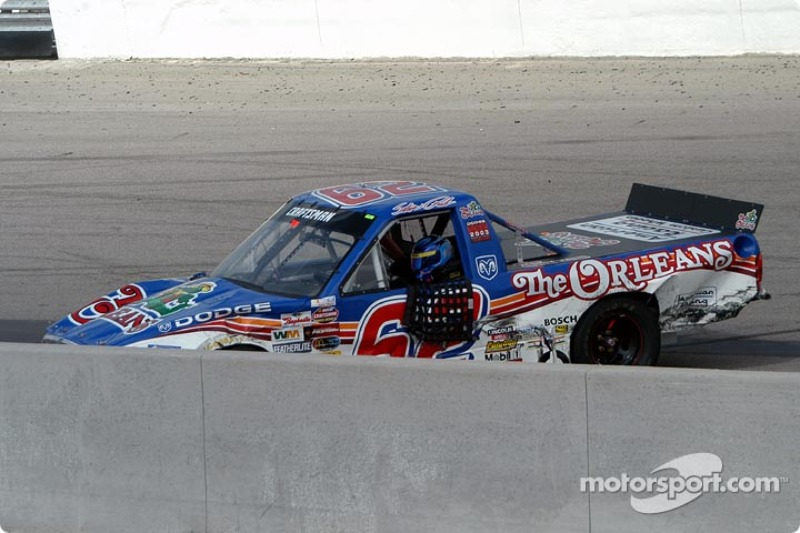 Steve Park did not exit his wrecked truck for several minutes
