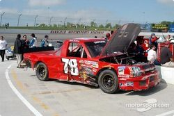 Damage to Charlie Bradberry's truck