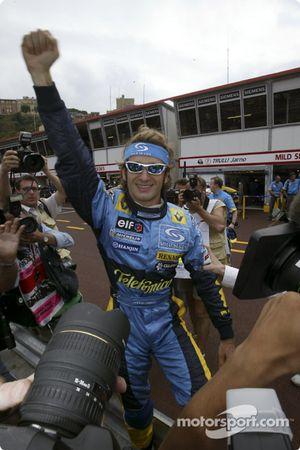 Jarno Trulli fête sa pole position