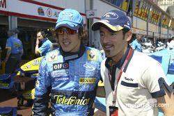 Fernando Alonso et Max Biaggi