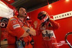 Rubens Barrichello et Gabriele delli Colli