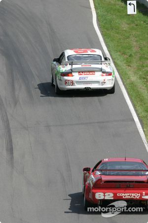 #36 TPC Racing Porsche GT3 Cup: Michael Levitas, Randy Pobst, Scott Maxwell, and #62 Honda of America Racing Team Acura NSX: Pete Halsmer, John Schmitt