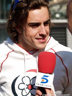 Fernando Alonso después de la carrera