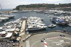 Jarno Trulli leads Fernando Alonso