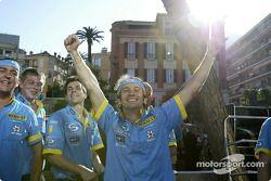 Jarno Trulli fête sa victoire