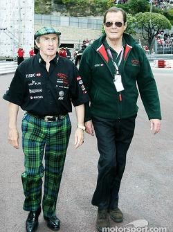 Jackie Stewart y Roger Moore