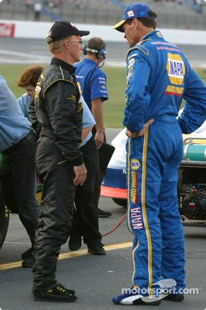 Morgan Shepherd and Michael Waltrip