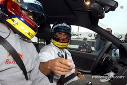 Juan Pablo Montoya ve erkek kardeşi Federico a BMW M3