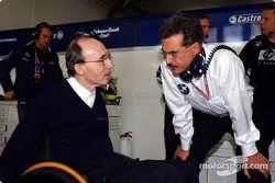 Frank Williams ve Dr Mario Theissen