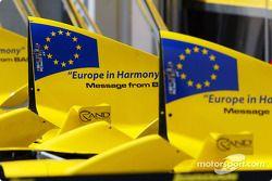 Message from Bahrain, Jordan motor kapağıs for this race: 'Europe Harmony'