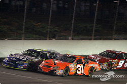 Jimmie Johnson and Robby Gordon lead the field to a restart